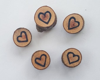 Wooden Slice Magnets, Hearts Fridge Magnet, Hearts Locker Magnet, Love Kitchen Decor, Valentines Day Gifts, Stocking Stuffers