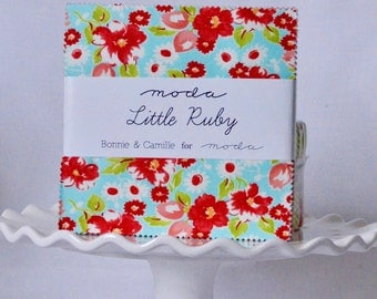 Little Ruby Fabric Charm Pack by Bonnie and Camille for Moda Fabrics