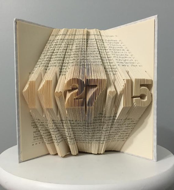 Book ArtWedding Gift For Him For HerFirst Anniversary Gift ...