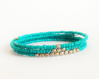Set of 3 Ethical Minimalist stacking friendship Bracelets