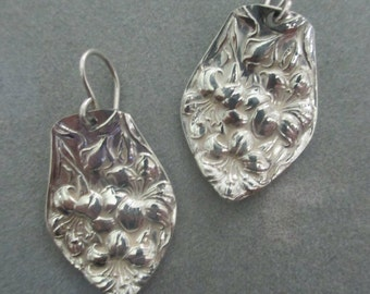 Floral Silverware Spoon Earrings