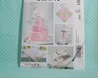 Baby Shower Craft Pattern. McCallu0027s 6301. Sew Sweet Chic Diaper Cake,  Blankie,