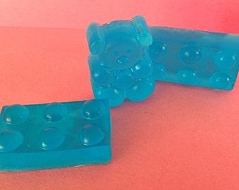 Lego & teddy bear bath mini soap