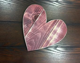 Mini wood pallet heart