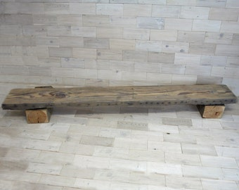 "Antique Fir Mantel w/Chalk Finish 85.5"" x 11"" x 3"""