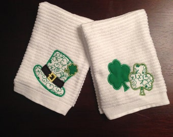 Personalized St. Patrick's Day Hand Towels