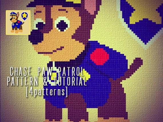 Knitting Pattern Paw Patrol : Chase paw patrol blanket corner to corner crochet pattern and