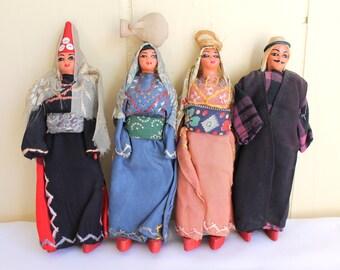 Antique Handmade Folk Dolls