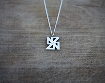 Handcrafted Sterling Silver NZ Pendant and Necklace