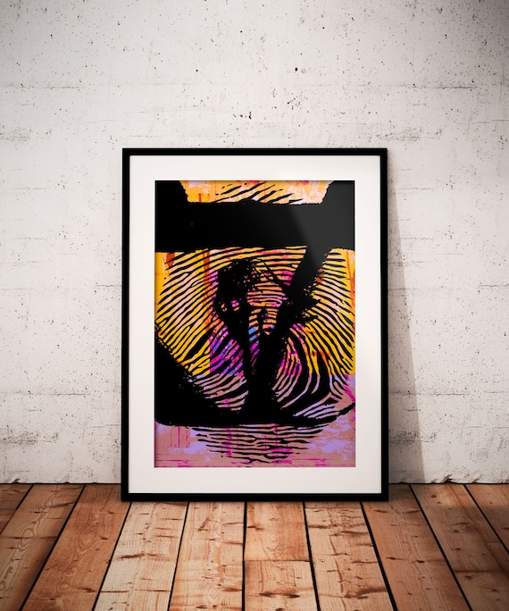 Nude Print Wall Art Contemporary Modern Abstract Female-5150