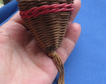 Retro Cone Shaped Basket With Tassel