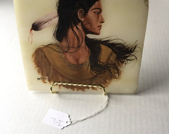 Native American Lady Painting