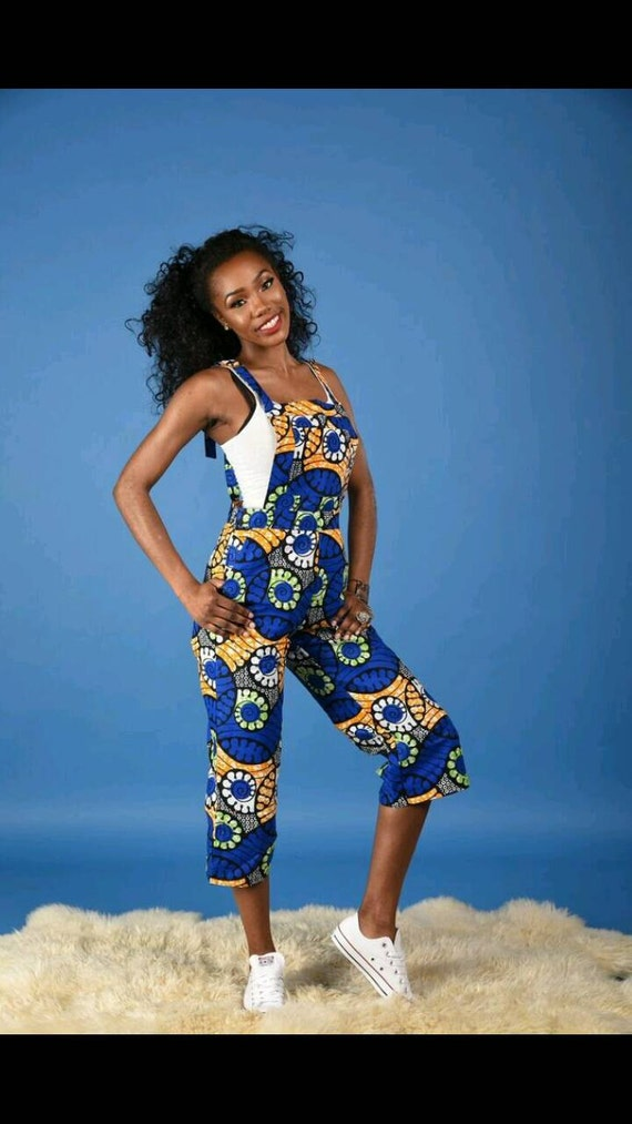 NEW Irene Dungarees - African print clothing