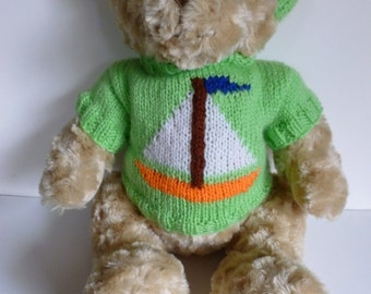 Teddy bear jumper with boat motif