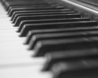 Piano Keys #1 - Black and White - B&W - Leonard Piano Company - Detroit - Antique - Nostalgic - Music - Fine Art - Jazz - Classical - Play