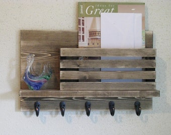 Mail and Key Holder with Shelf