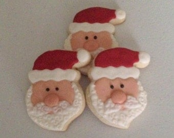 Santa Face Sugar Cookies