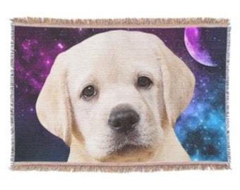 Yellow Labrador Throw Blanket - Yellow Lab Blanket - Labrador Decor - Dog Lover Gift - Lab Gift - Labrador Gift