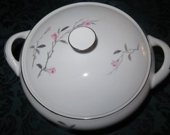 Round Covered Vegetable Bowl by Fine China of Japan-Cherry Blossom Pattern