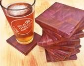 Purpleheart and Padauk Coasters (set of 4)