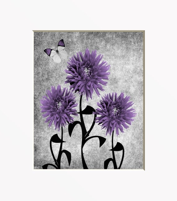purple gray floral wall art photography by littlepiephotoart. Black Bedroom Furniture Sets. Home Design Ideas