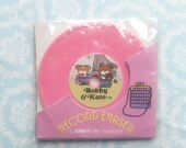Record Eraser Bobby & Kate Purple Ribbon Vintage 1981s