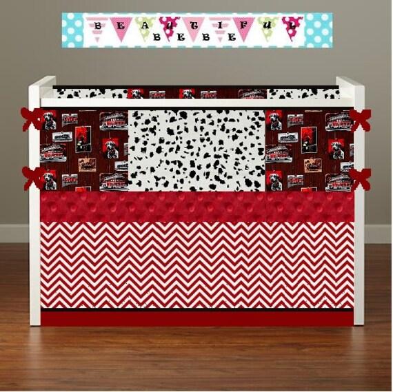 Fire Truck Crib Bedding : Fire truck crib beddingboy baby beddingcrib by