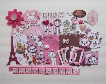 Disney Aristocats Marie Custom Mini Book Album Kit Scrapbook Kitten
