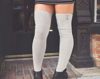 Thigh High Over the Knee Socks with Button Options