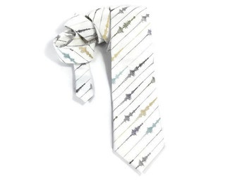 Seismograph tie, seismology necktie, earthquake tie, seismic waves, richter scale, earth science, geologist accessory, geology