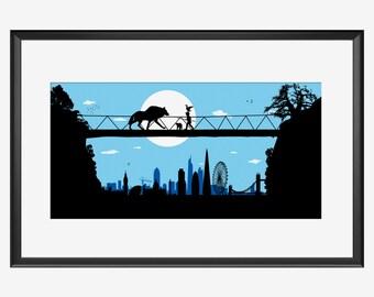 London Skyline, London print, London art, London poster, Peter and Wolf, Peter and Wolf art, Peter and wolf print, Peter and Wolf poster