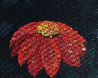 Red Flower~ Original Oil Painting
