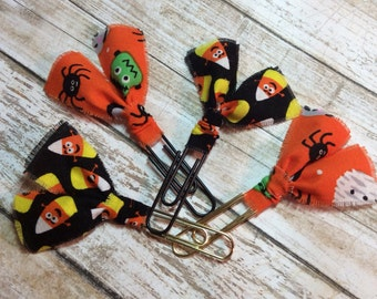 Halloween Fabric Clips - Planner Clips / Bookmarks