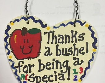 Teacher Gift Thanks a Bushel Counselor