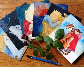 Six different designs, greetings cards pack 2