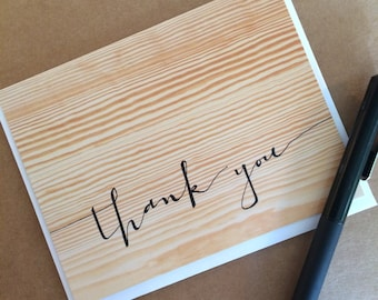 Woodgrain Thank You Greeting Card