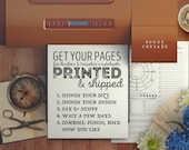 PRINTED PAGE PACKS - Rogue Crusade Planner Pages - Choose Your Size and Design, We Print and Ship