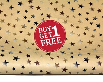 Sale PU Faux Leather Fabric with Stars for Fashion and Crafts Supplies