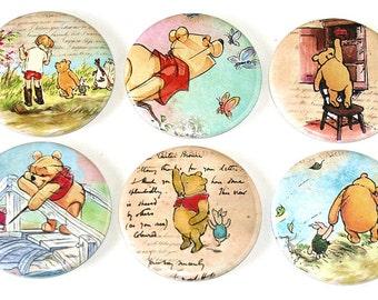 Winnie the Pooh - Set of 6 Large Fridge Magnets