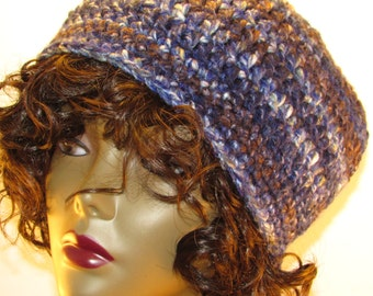 Blue Bulky Large Adult Hat