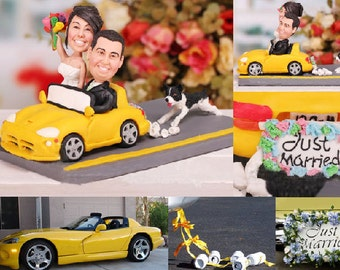 Personalised wedding cake topper - Just Married (Free shipping)