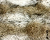 Premium Faux Fur Fabric / Cutting / Swatch / Sample/ Piece / Remnants / Coyote Stripe Shag