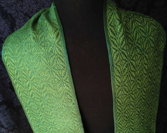 Green Clergy Stole , Star of Bethlehem Clergy Stole, Handwoven Clergy Stole, Handmade Clergy Stole, Ministers Stole, Deacons Stole, Vestment