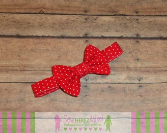 Red White Pin Dot Bow Tie Sizes Infant, Child, Youth and Adult