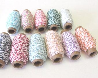 Divine Twine Sampler - 12 Colors Sampler - 15 yards per spool