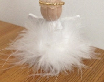 Angel, Wooden Angels, Religious Gift, First Communion Angel, Peg Doll, Baptism Gift, Christening Gift
