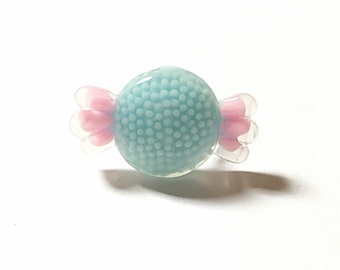 Pink and blue candy ring, kawaii ring