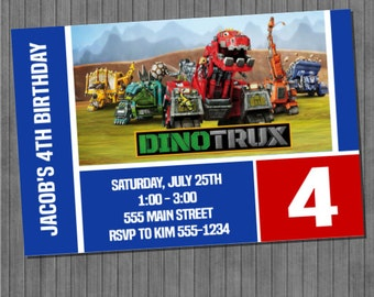 LIMITED TIME 40% OFF Dinotrux Invitations