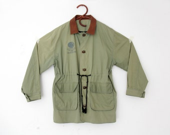 Vintage Jacket // Men's  RED INDIAN Vbk Military Jacket