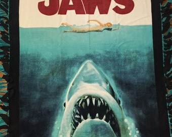 Jaws Fleece Tie Blanket
